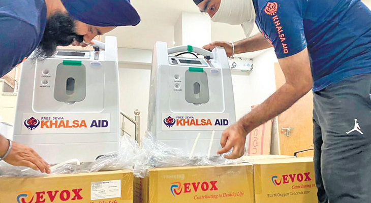 Khalsa Aid to provide free oxygen concentrators to Delhi corona patients