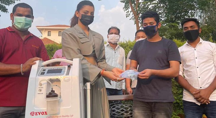 Urvashi Rautela Donates 27 EVOX Oxygen Concentrators In Uttarakhand